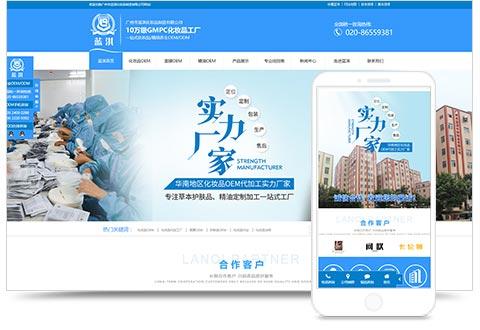 {geo.city}市蓝淇化妆品制造有限公司网站建设项目